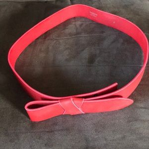 "Lanvin bow belt 33.5"" to 36"""